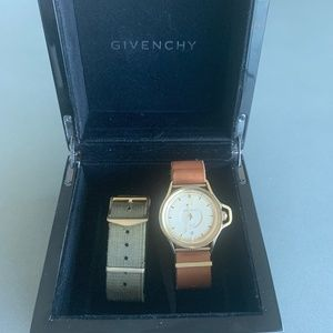 Givenchy watch with 2 wristband options